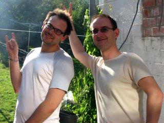 Pierre 'cyborgjeff' et Didier 'hunter' font les zouaves