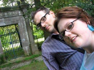 Pierre et Jessica au fond du parc de Modave