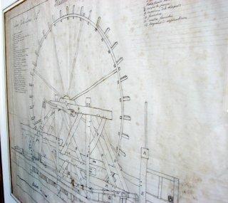 PLan de la roue du chateau de Modave