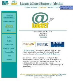 Site LabSET en 2002