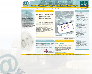 fin 2006 - Ma version du site Labset !