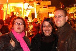 Jessica, Roseline et Didier à l'entrée de la foire