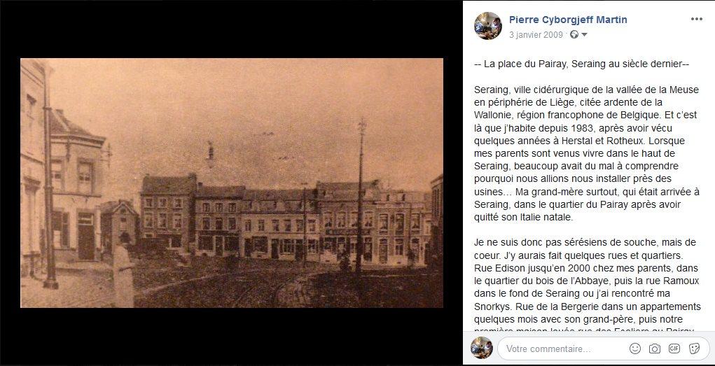 -- La place du Pairay, Seraing au siècle dernier--