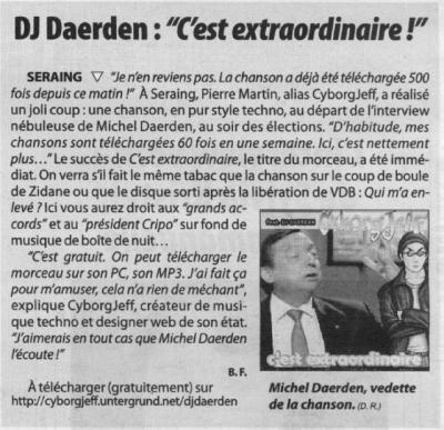 DJ Daerden - C'est extraordinaire