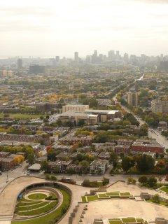 Montréal vue dans haut