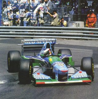 1994 Monaco, Michael Schumacher sur Benetton Ford