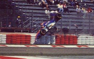 94 Imola, Accident de Rubens Barrichello sur Jordan Hart