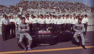 94, Karl Weindlinger et Heins-Harald Frentzen sur Sauber Mercedes