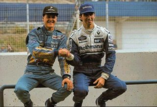 1994, Michael Schumacher et Damon Hill