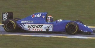 1994, Erick Bernard sur Ligier Renault.