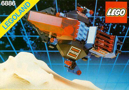 LEGO 6886 - Space Police Gardien de la paix, 1989