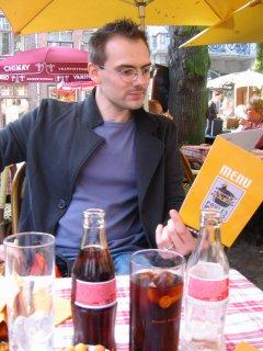 petit resto sur la place de Brugges 2005