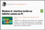 Mon Mobile & Moi : Windows 8 : interface tactile sur tablette comme sur PC