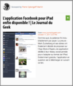 Mon Mobile & Moi : L'application Facebook pour iPad enfin disponible !