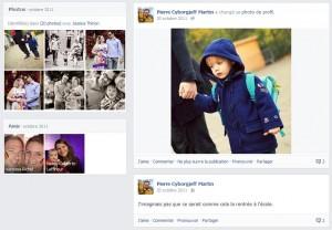 Facebook - Novembre 2011 - Charly rentre à l'école