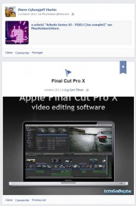 Facebook - Octobre 2011 - Final Cut Pro X