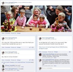 Souvenirs de novembre 2012 - Mur Facebook - Anniversaire Alice & Juliette