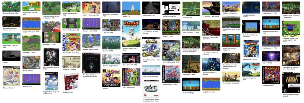 Les jeux auxquels j'ai joué en 2012