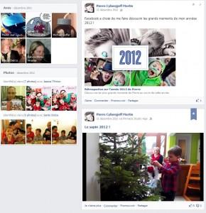 Facebook - Timeline - décembre 2012