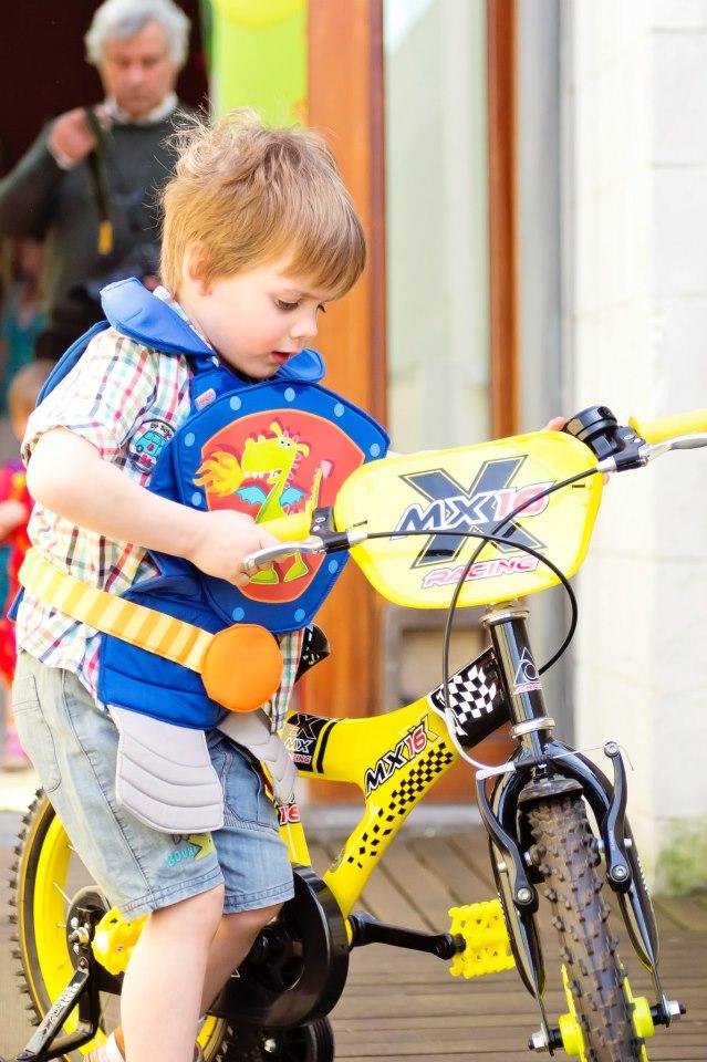 Le vélo de grand de Charly - Merci Parrain !