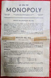 Les règles du Monopoly belge - ancienne version en Francs - Page 1