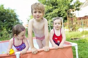 ... ou on joue dans la nouvelle piscine !