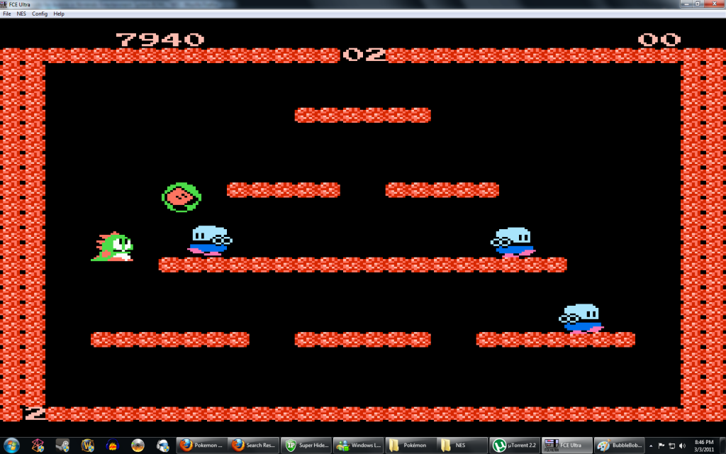 Nesticle - émulateur NES - Bubble Bobble
