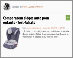 Comparateur sièges auto pour enfants - Test-Achats