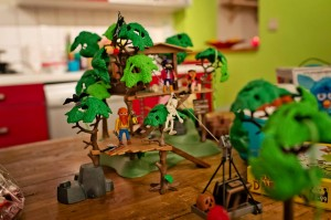 Playmobil - la cabane dans les arbres