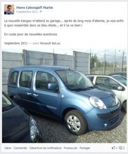 Facebook - septembre 2011 - Renault Kangoo