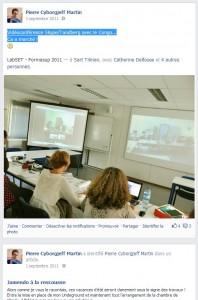 Facebook Septembre 2011 - Vidéo Conférence