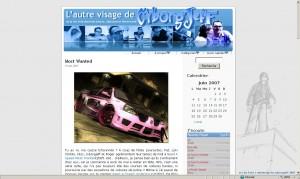 Le Blog de Cyborg Jeff en 2007, première mouture WordPress.