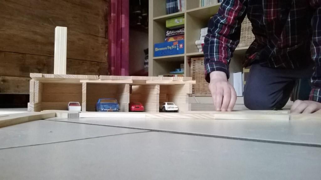 Kapla - un garage pour petites voitures