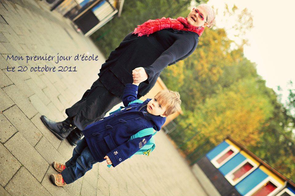 Ton premier jour d'école en novembre 2011, tu avais tout juste 2 ans et demi !