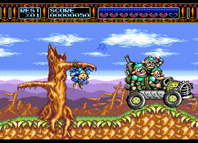 Rocket Knight Adventures - MD (Konami, 1993)