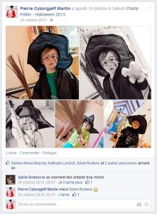 Facebook - Octobre 2013 - Charly Potter