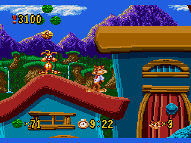 Bubsy in Claws Encounters of the Furred Kind - MD (Accolade, 1993)