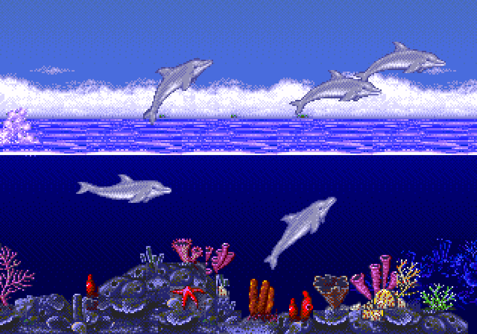Ecco the dolphin - MD (SEGA - Novatrade Software, 1993)