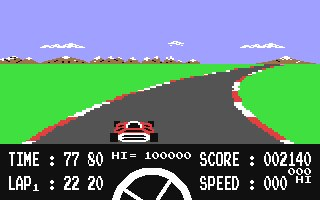 Formula One Simulator (C64)