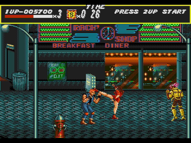 Streets of Rage - Mega Games 2 - MD (Sega, 1991)