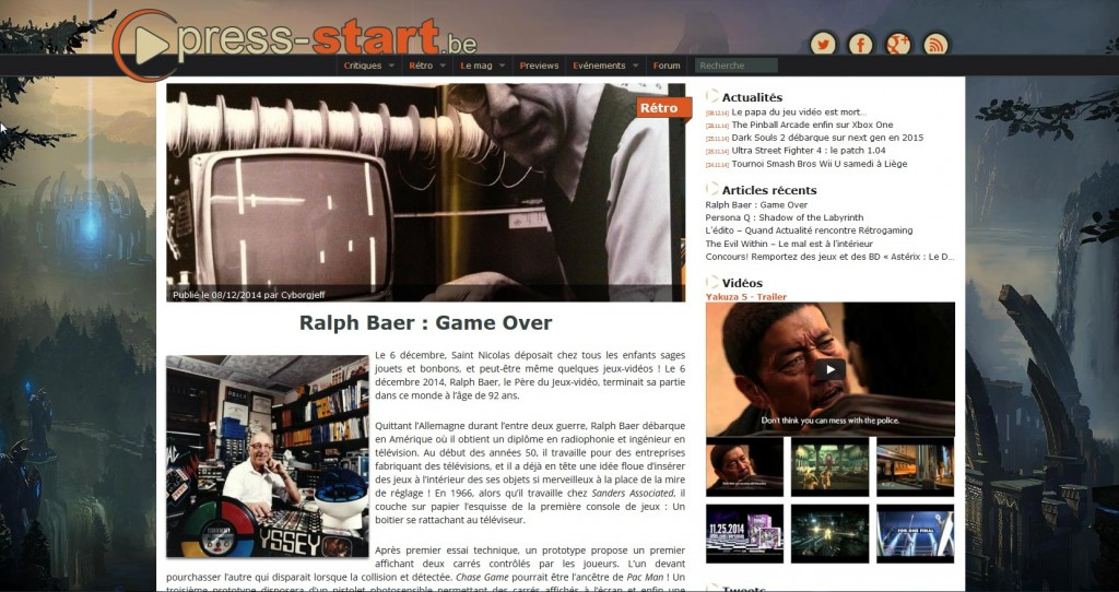 Press-Start.be Ralph Baer