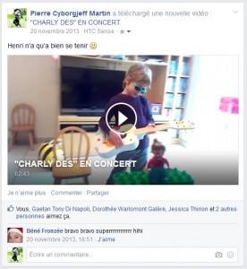 Charly Dès en concert