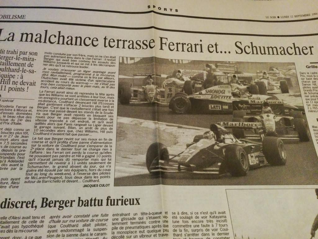 Mes premières coupures de presse... saison 94