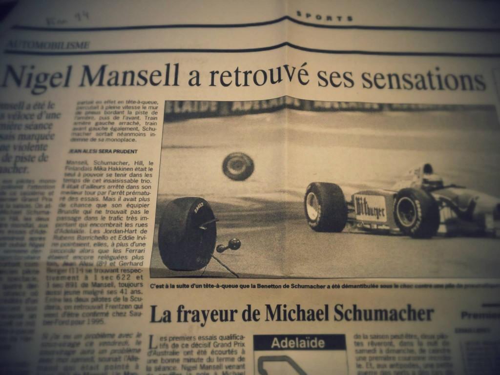 Le retour de Nigel Mansell, fin 94