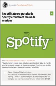 Les utilisateurs gratuits de Spotify écouteront moins de musique