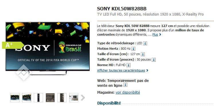 SONY  KDL50W828BB