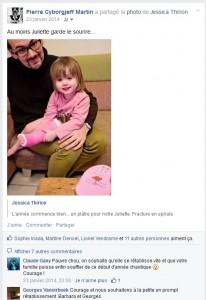 Facebook - Un platre rose pour Juliette
