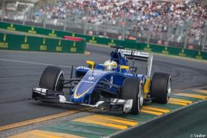 La Sauber Ferrari 2015, tout en bleu