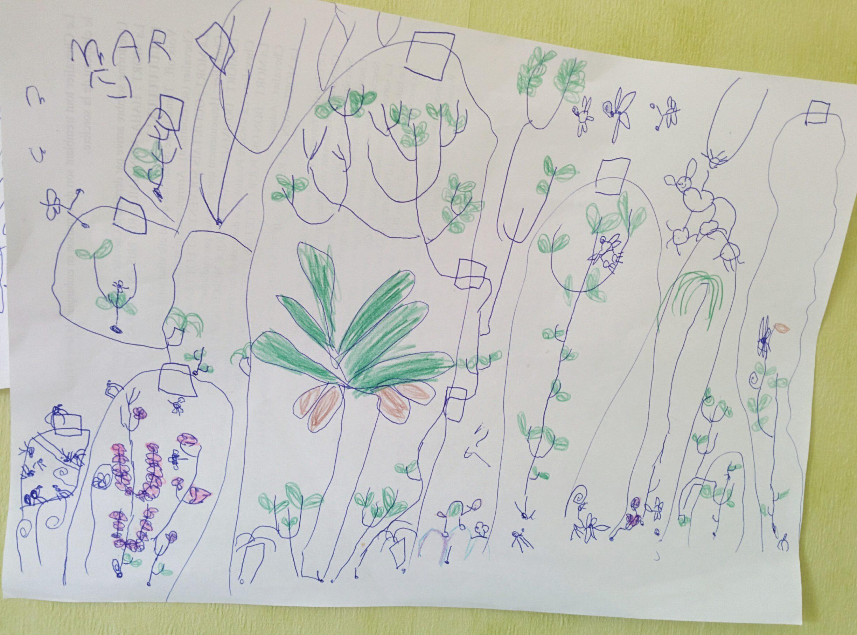 Dessin d'enfant - le monde des plantes - ULg