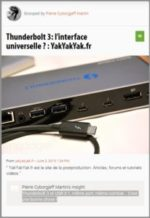 Scoop :  Thunderbolt 3: l'interface universelle ?